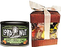 Lord Nut Zesty Chilli Lime Peanuts and Dolciaria Monardo Chocolate Truffles from Italy with Gianduiotto Gift Set Total 2 Items