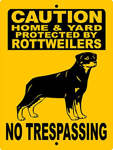 - Dozili Rottweiler Dog Sign No Trespassing Sign Guard Dog Aluminum Sign Rnt Metal Tin Sign Plaque Wall Art Decor