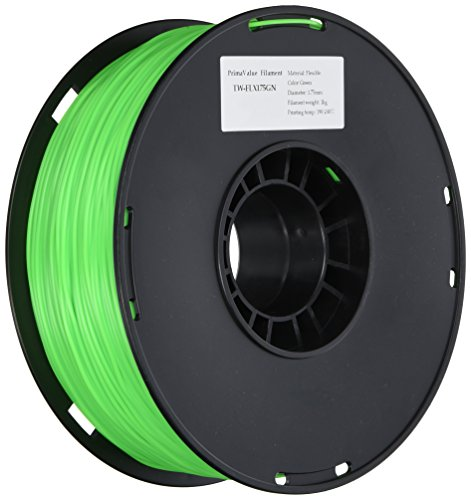 3D-Prima TPE Flexible Filament – 1.75mm – 1 kg spool – Green