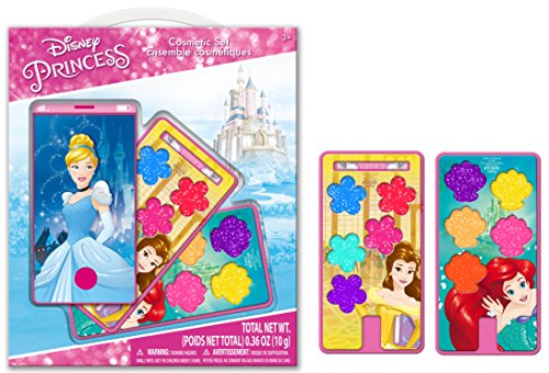 Townley Girl Disney Princess Sparkly Lip gloss For Girls, Cell Phone Lip gloss Compact, 8 flavors
