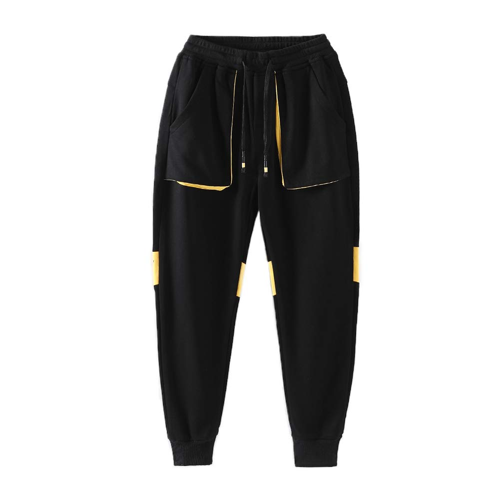 childdkivy Boys Slim Fit Jogger Pants Active Outwear Sweatpants 817 Black 14T by childdkivy
