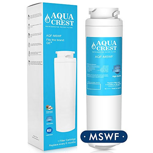 AQUACREST MSWF Replacement for GE MSWF, 101820A Refrigerator Water Filter