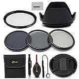 52mm Lens Accessories Kit w/ 52mm ND Filters Kit, 52mm Lens Hood, 52mm UV Filter, 52mm Lens Cap f/ Nikon Cameras including Nikon D850, D750, D500, D810A, D610, D7500, D7200, D5600, D5500, D3400, D3300