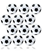 Anapoliz Table Soccer Foosballs | 12 Pack | Mini Black and White 36mm Table Soccer Balls | Regulation Size Foosball | Tabletop Games Official Balls (12 Pcs. Set)