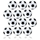 Anapoliz Table Soccer Foosballs | Replacement 12 Pack | Mini Black and White 36mm Table Soccer Balls | Regulation Size Foosball | Tabletop Games Official Balls (12 Pcs. Set)