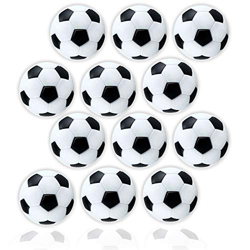 Sale!! Anapoliz Table Soccer Foosballs | Replacement 12 Pack | Mini Black and White 36mm Table Socce...