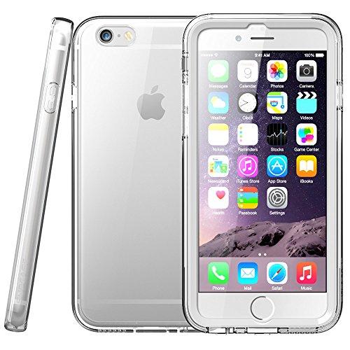 Cover iPhone 6 Plus,SUPCASE [ Ares ] Custodia / Protezione / Bumper Trasparente [FUSION] - Back Completamente trasparente con 2 Protezioni dello schermo incorporate ( Bianco e Nero ) per iPhone 6 Plus