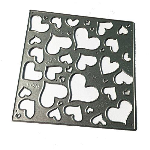 Bottone Square Loves Embossing Metal Steel Cutting Dies Stencils DIY Scrapbooking Craft
