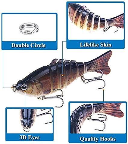 Multi-Jointed Fishing Lure Lifelike Swimbait Pike Bass Trout Salmon Carp Bait
