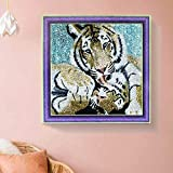 hello dpx 5D Full Drill Tigers Diamond Painting