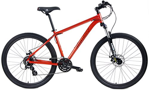 "Gravity Basecamp 27.5 Disc Brake Shimano 24 Speed Front Suspension Mountain Bike (Orange, 19"" - fits Most 6"