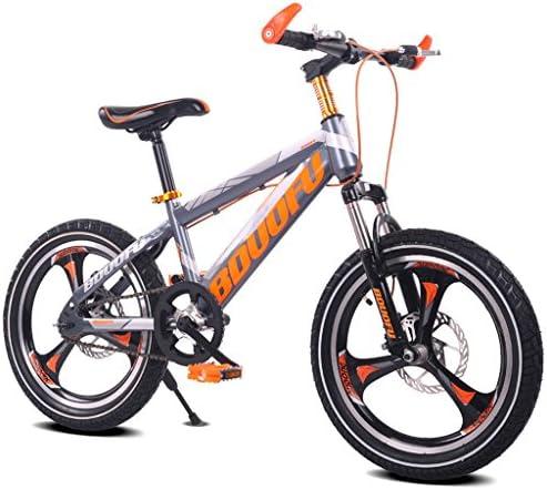 Fenfen Bicicleta para niños 16/18/20 pulgadas Bicicleta de montaña 5/8/10/14 años de edad Niño y niña Bicicleta Marco de acero de alto carbono, Naranja/verde/rojo/azul (Color : 20 inch orange): Amazon.es: Hogar
