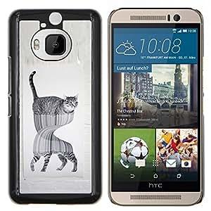 LECELL--Funda protectora / Cubierta / Piel For HTC One M9Plus M9+ M9 Plus -- gato en espejo fuuny --