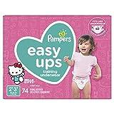 Pampers Easy Ups Pañal de entrenamiento desechable para niñas, N/A, Size 4 (2T-3T)