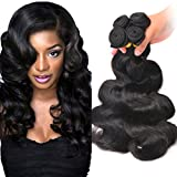 "Brazilian Wavy Hair Bundles Unprocessed Virgin Human Hair Extensions Body Wave Hair 12"" 14"" 16"" 18"" Natural Black Color Body Wave Human Hair"