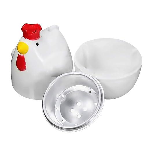 Caldera de huevo de microondas de 2 piezas, olla de cocción de ...