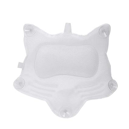 Amazon.com: Almohada de baño, cojín de bañera 3D acolchado ...