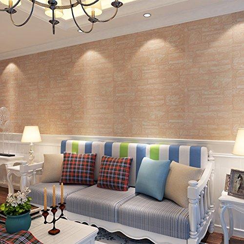Hanmero papel pintado moderno imitaci n ladrillo no tejido - Papel pared salon ...