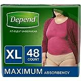 Depend FIT-FLEX Incontinence Underwear for...
