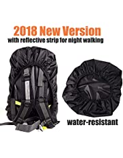 Waterproof Backpack Rain Cover, Water Resistant Storage Bag, Rainproof Protector Pack Covers with Reflective Strip for Hiking Camping Cycling Traveling Outdoor Activities