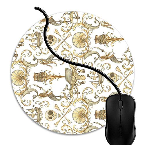 Mouse Pad Gaming Rococo and A Bottle of Rum, Premium-Textured Surface, Non-Slip Rubber Base, Laser Optical Mouse Compatible, Mouse mat 1J639