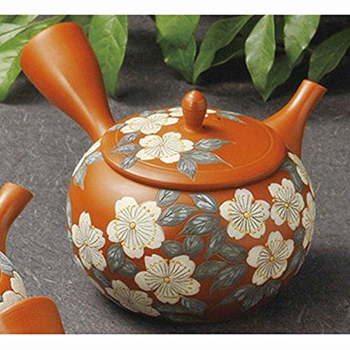 Japanese ceramic Tokoname ware. red Kyusu teapot. 220cc
