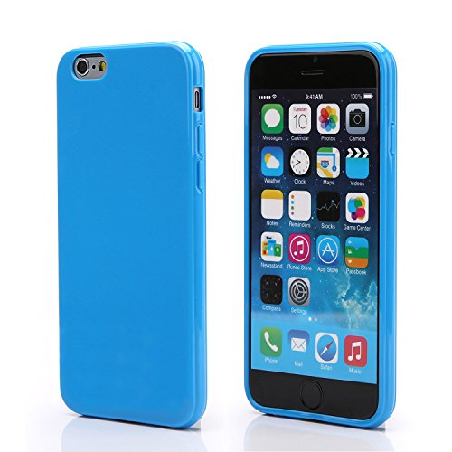 iPhone 6S Blue Case, technext020 Shockproof Ultra Slim Fit Silicone Blue TPU Soft Gel Rubber Cover Shock Resistance Protective Back Bumper for iPhone 6 Blue