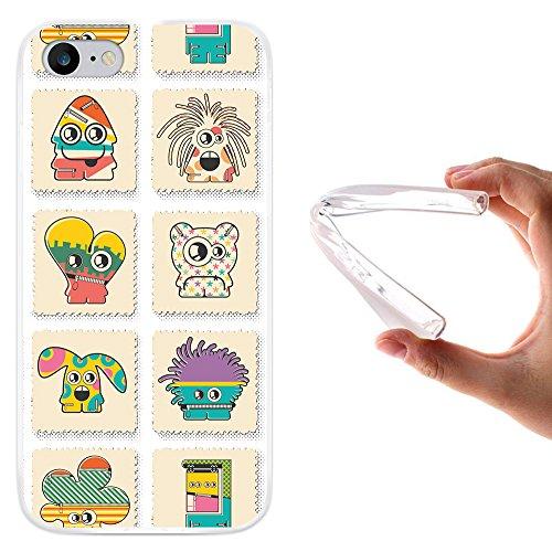 WoowCase Hülle Case für [ iPhone 7 ] Handy Cover Schutzhülle Monsters