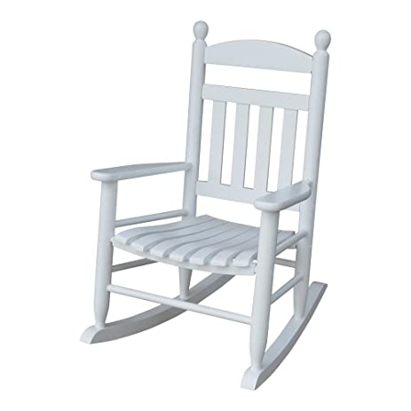 amazon com youth slat white patio rocking chair white electronics