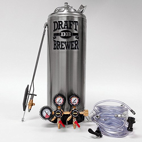 Draft-Brewer-Tap-N-Fill-Keg-System-for-Home-Brewed-Beer-New-Cornelius-Keg-CO2-Regulator-and-Last-Straw-Stainless-Steel-Bottle-Filler