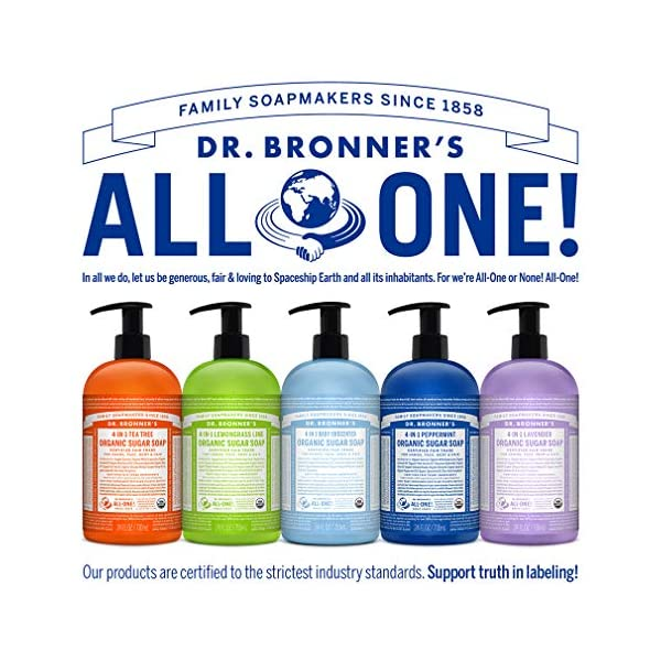 Dr. Bronner's, Organic 4in1 Shikakai Baby Unscented Hand Soap, Coconut, 710 ml