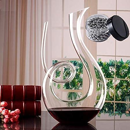 SDFSX Decantador de vino, soplado a mano, sin plomo, aireador de vino clásico, jarra de vino tinto, accesorios de vino, regalos de vino