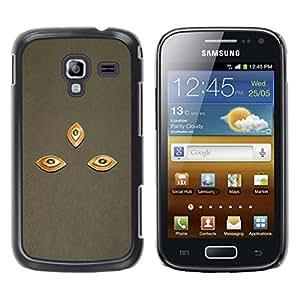 YOYOYO Smartphone Protección Defender Duro Negro Funda Imagen Diseño Carcasa Tapa Case Skin Cover Para Samsung Galaxy Ace 2 I8160 Ace II X S7560M - tres ojos conchas