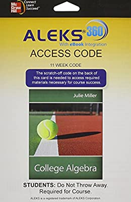 ALEKS 360 Access Card (11 weeks) for College Algebra