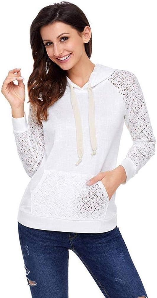 Sweatshirt Frauen Einfache Kausale Hoodie Pullover Langarm Patchwork Perfect Tasche Dekoration Kapuzenpullover Herbst Winter Style Weiß