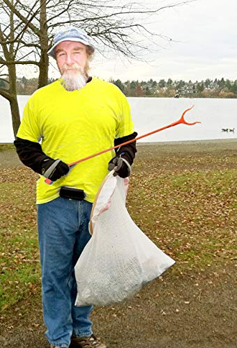 ArcMate Qwik-Pik Economy Trash Pick Up Tool, Outdoor Reacher Grabber Litter Picker, Jaws Open 3.5'', Rotates 360 Degrees, For Volunteers, 1 lb. Pick Up Capacity, Orange, 31'', 6-Pack (15615) by ArcMate (Image #5)