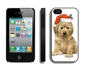 Provide Personalized Customized Christmas Dog iPhone 4 4S Case 18 Black