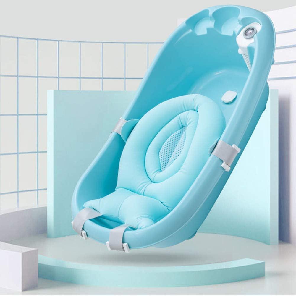 Baby Bath Support Sunzit Baby Bath Support Sponge Baby Bath Tub Pillow Floating Anti-Slip Bath Cushion Soft Seat Bathtub Support for Newborn
