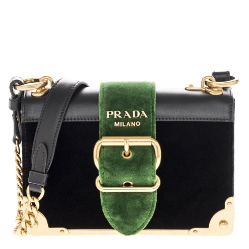 Prada-Womens-Cahier-Velvet-and-Leather-Handbag-Black