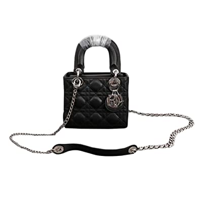 0ab1ae016bf Image Unavailable. Image not available for. Color: Womens Mini LANA MARKS  Princess Diana Handbag Lady Dior Lambskin Bag