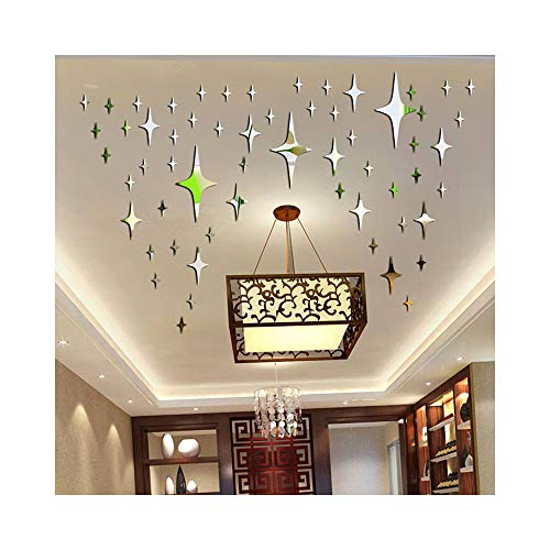 - Alrens_DIY(TM)5cm50pcs Bling-Bling Stars DIY Acrylic Removable Decorative Mirror Surface Crystal Wall Stickers 3D Home Decal Room Murals Wall Paper Decor Gift