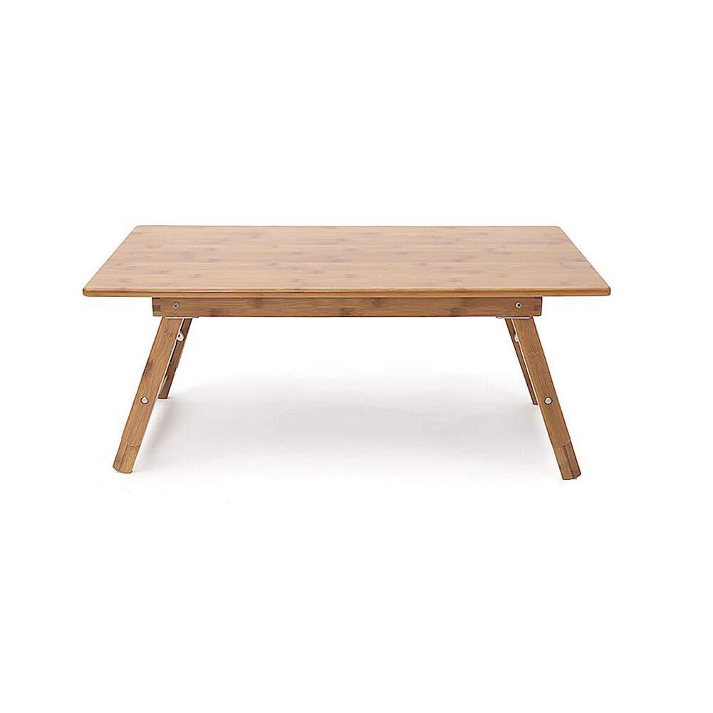 XUERUI テーブルチェア 竹折りテーブル正方形テーブルシンプルな小さなお茶テーブルラップトップデスクライティングデスクウッドカラー竹   B07FXGY3FZ