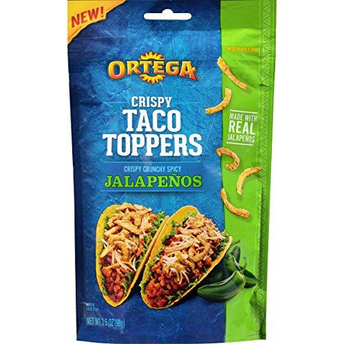 Ortega Crispy Taco Toppers, Jalapeno, 3.5 Ounce (Pack of (Ortega Taco Dinner)