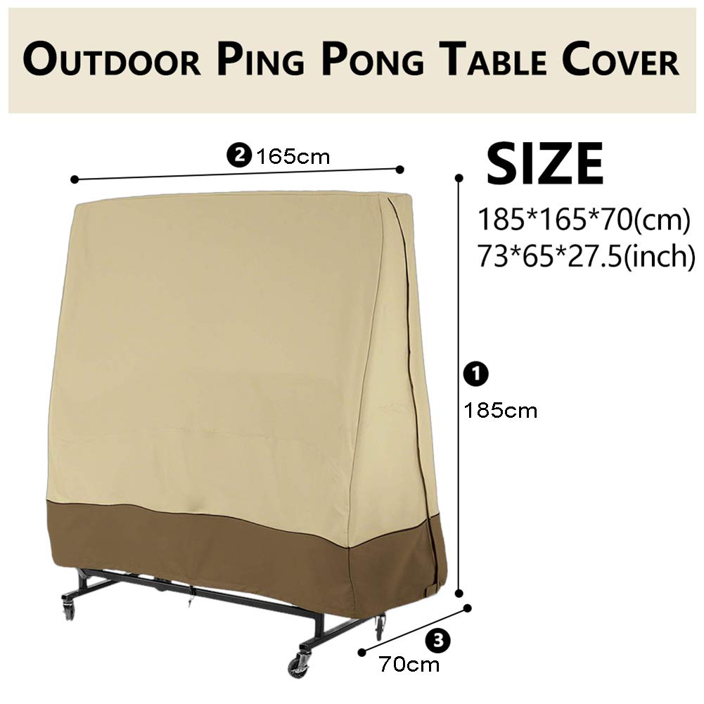 STTC Funda para Mesa de Ping-Pong, 210D Oxford Tela Impermeable ...