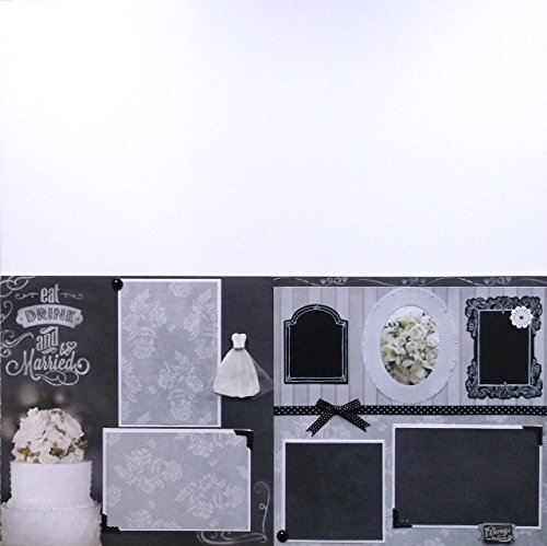 Be Married Chalkboard Wedding (2) Scrapbook Pages Premade
