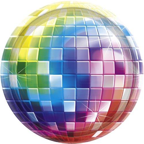 Amscan 591222 Disco Fever Party Plates 10 1/2
