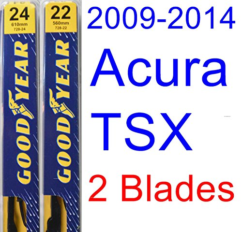 2009-2014 Acura TSX Replacement Wiper Blade Set/Kit (Set of 2 Blades) (Goodyear Wiper Blades ...