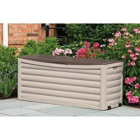 Suncast 103-Gallon 13.8-cu ft Waterproof Resin Deck Boxes with Wheels (Suncast Deck Box With Wheels 103 Gallon)