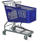 Advance Carts HC180-BU-S Plastic Shopping Cart, 180 L, Blue