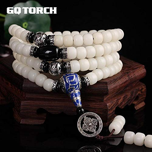 Authentic Natural White Seed Mantra Beeds Bracelets | for Women and Men | Beads Multi Layers Tibetan Jewelry
